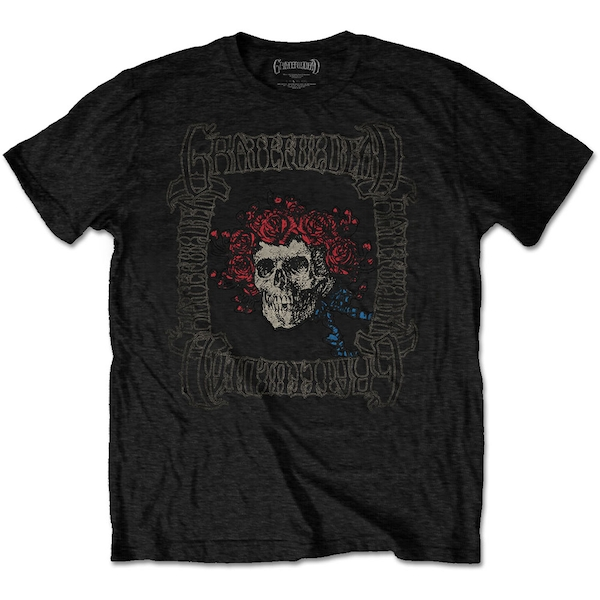 Grateful Dead - Bertha with Logo Box Men's Medium T-Shirt - Black