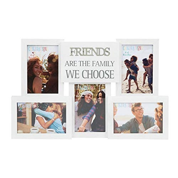 Collage Photo Frame with Metal Words - Friends