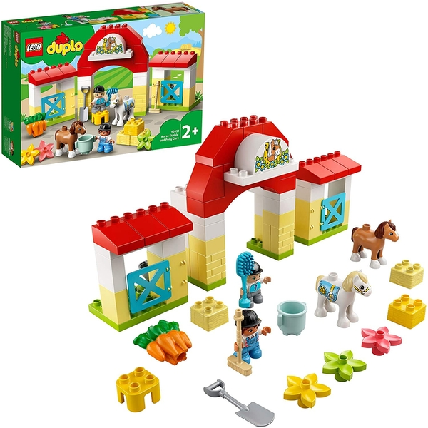 Lego Duplo Town Horse Stable and Pony Care Construction Set