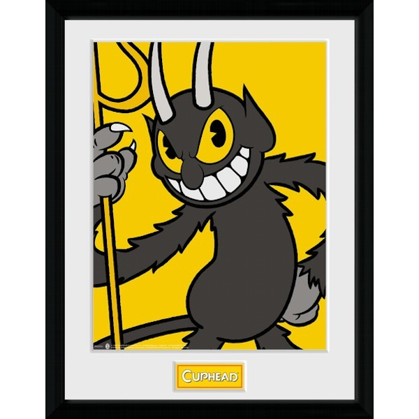 Cuphead The Devil Framed Collector Print