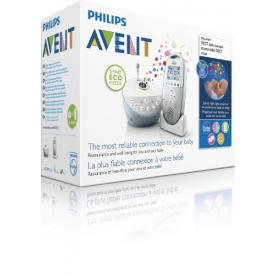 Philips AVENT DECT Baby Monitor SCD580/01 with Starry Night Proj