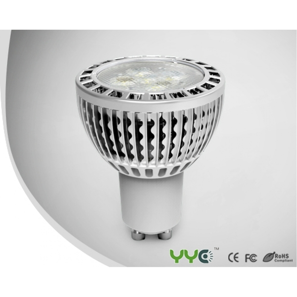 YYC LED GU10 4.5W silver clear Natural White 338 lumens