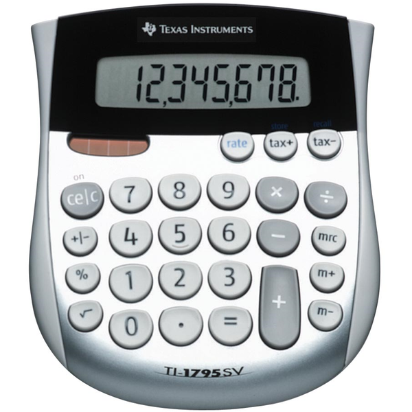 Texas Instruments 1795SVFBL11E1 TI1795SV Desk Calculator with Large Digits
