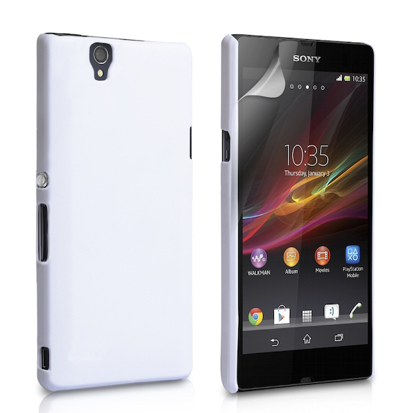 Yousave Accessories Sony Xperia Z Hard Hybrid Case White