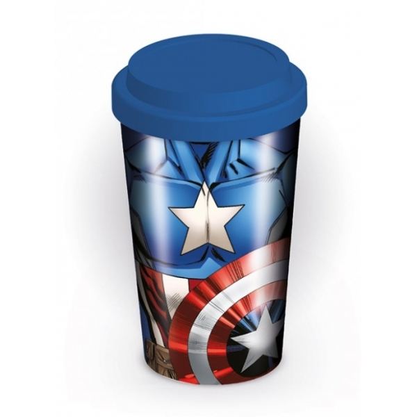 Marvel Captain America Torso Travel Mug