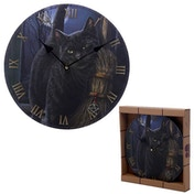 Black Cat and Broomstick Wall Clock
