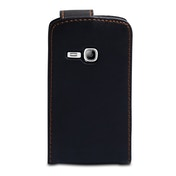 YouSave Accessories Samsung Galaxy Young Leather-Effect Flip Case - Black