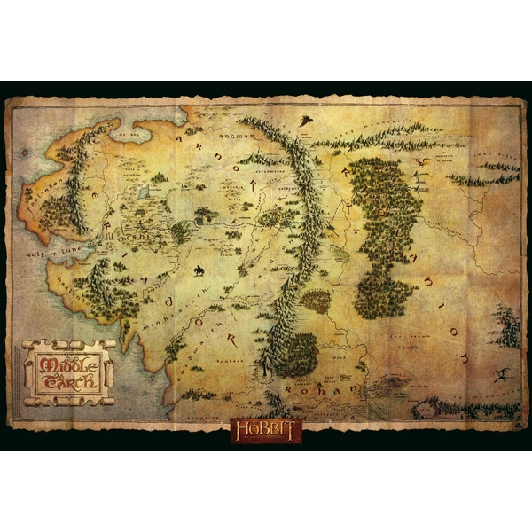 The Hobbit - Middle Earth Map Maxi Poster