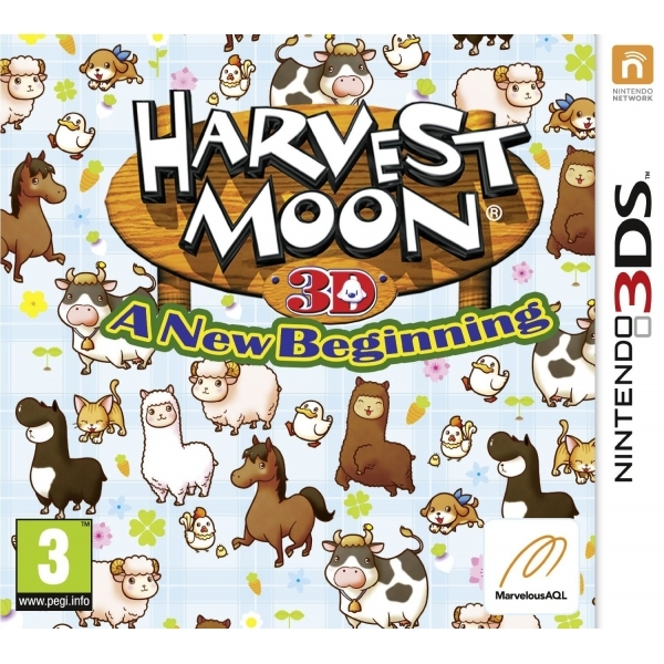 Harvest Moon A New Beginning Game 3DS