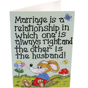 Pack of 6 Marriage Is A Relationship Smiley Cards