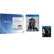 PlayStation 4 (500GB) White Console + Bloodborne + The Last of Us