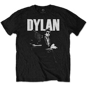Bob Dylan - At Piano Men's Large T-Shirt - Black