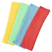 Xavax Microfibre Cloths, 30 x 30 cm, blue/green/yellow/red