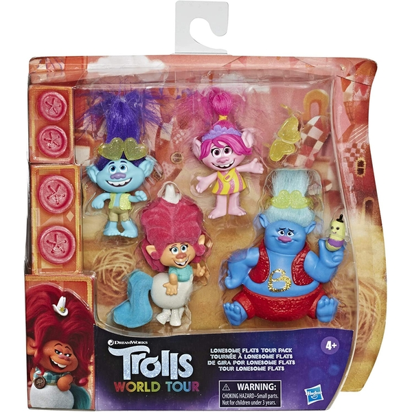 Trolls World Tour Lonesome Flats Tour 4 Figure Pack
