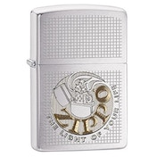 Zippo Unisex Light of Life Windproof Pocket Lighter Brushed Chrome