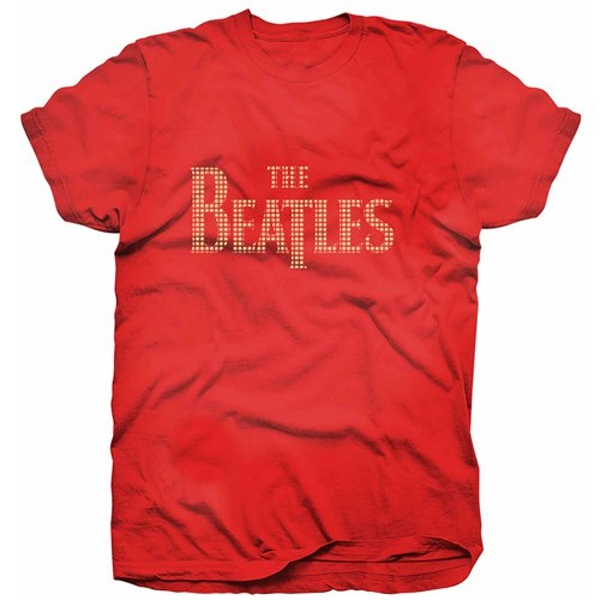 The Beatles - Drop T Logo Women's X-Large T-Shirt - Red