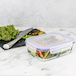 Set of 4 Glass Meal Prep Containers| M&W 3 Compartment - Image 4