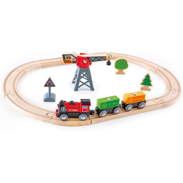 Hape Cargo Delivery Loop Playset