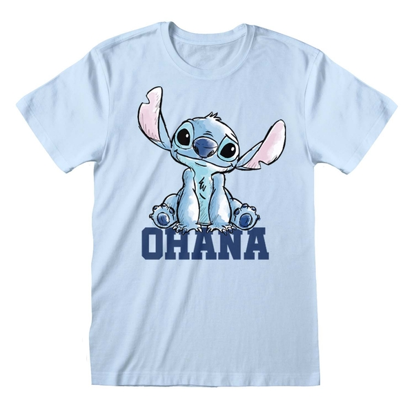 Lilo And Stitch - Pastel Stitch Unisex XX-Large T-Shirt - Blue