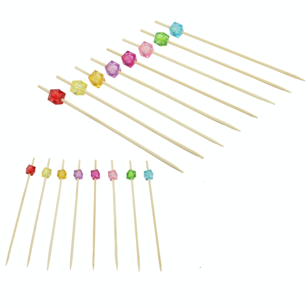 Bamboo Multicoloured Cocktail Sticks | Pukkr