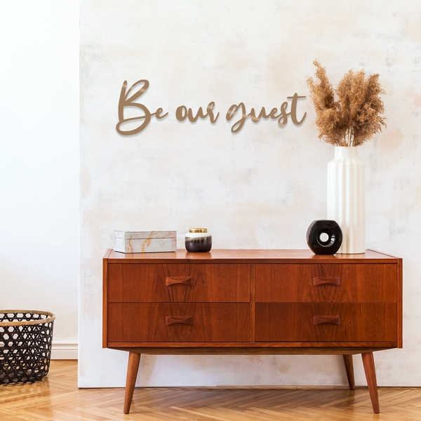 Be Our Guest - Copper Copper Decorative Metal Wall Accessory