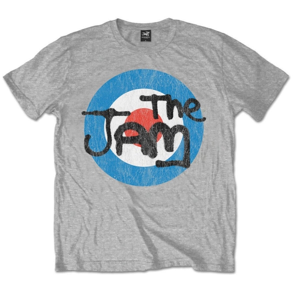 The Jam - Vintage Logo Unisex Medium T-Shirt - Grey