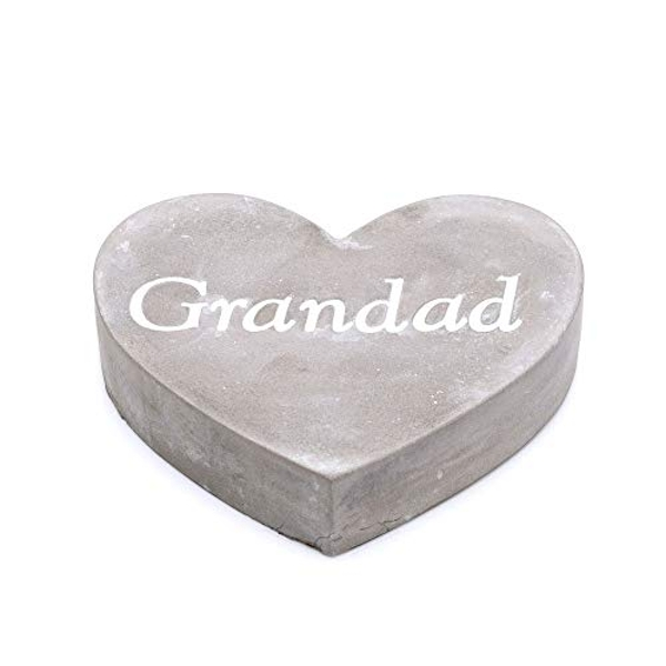 Thoughts Of You Graveside Concrete Heart - Grandad