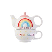 Sass & Belle Rainbow Positivitea Tea Pot Set for One