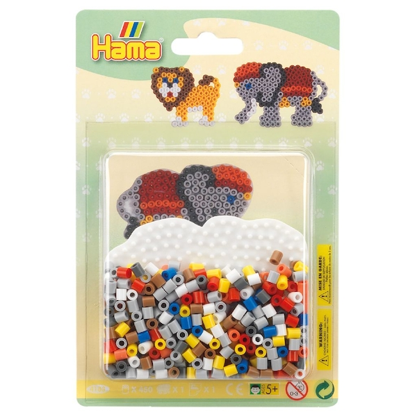 Hama - Safari Small Blister Pack Activity Set