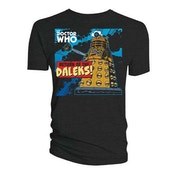 Doctor Who - Return of the Daleks Men's Large T-Shirt - Black