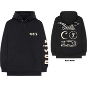 Nas - Symbols Men's Medium Pullover Hoodie - Black