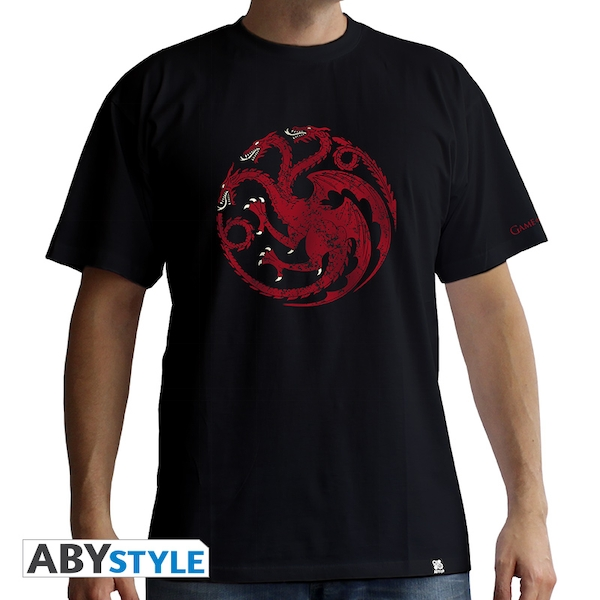 Game Of Thrones - Targaryen Men's Small T-Shirt - Black