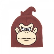 Nintendo Donkey Kong Face Cuffless Beanie - Brown