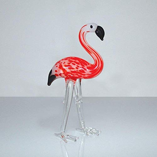 Objets d'Art Miniature Glass Ornament - Flamingo