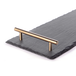 Slate Serving Platter with Handles | M&W Gold - Image 3