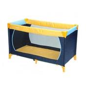 Hauck Dream N Play Travel Cot - Yellow/Blue/Navy