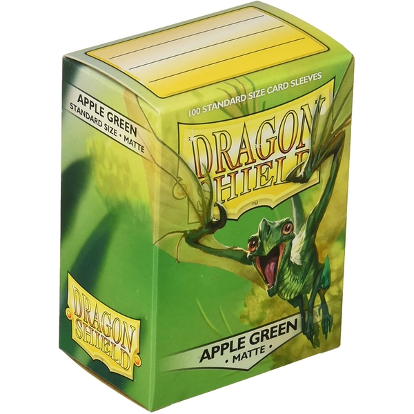 Dragon Shield Apple Green Matte Card Sleeves - 100 Sleeves