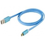 Scosche (0.9 m) flatOUT LED Micro Reversible Charge and Sync Cable for Micro USB Devices (Blue)