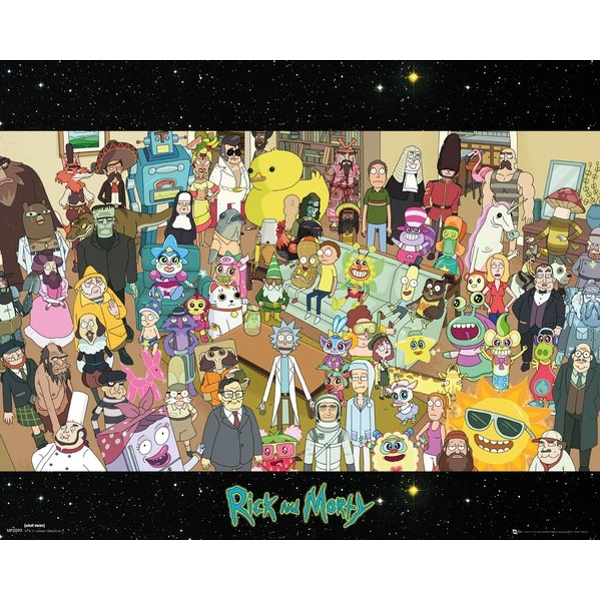 Rick and Morty Cast Mini Poster