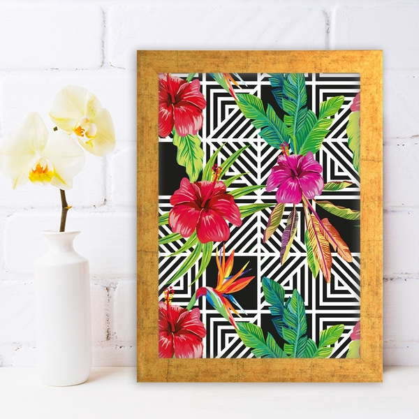 AC617140001 Multicolor Decorative Framed MDF Painting
