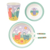 Sass & Belle Little Llama Bamboo Tableware Set