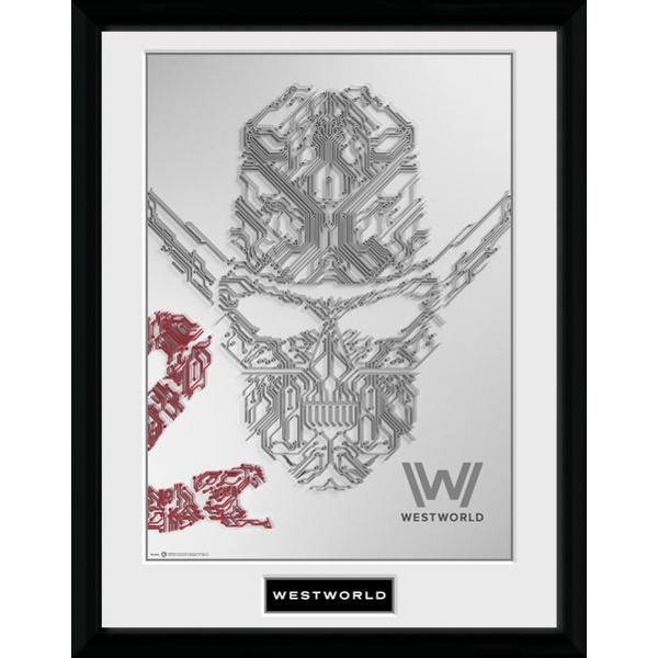 Westworld Face Framed Collector Print