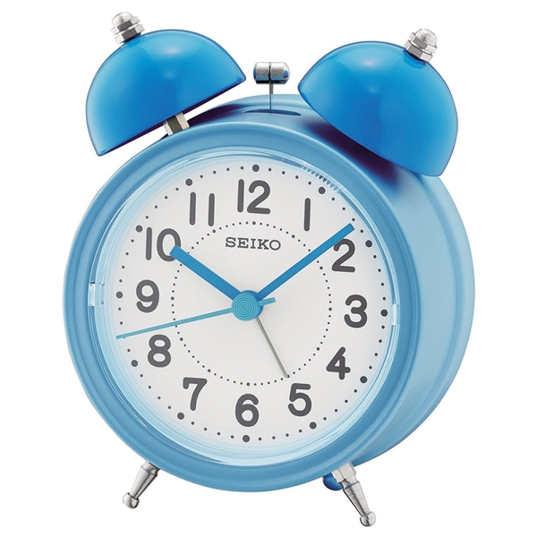 Seiko QHK035L Bell Alarm Clock with Light and Snooze - Blue