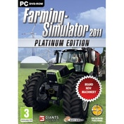 Farming Simulator 2011 The Platinum Edition Game PC