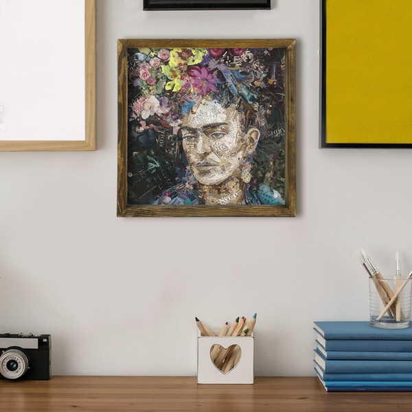 MZM267 Multicolor Decorative Framed MDF Painting