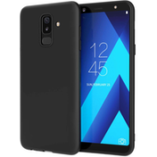 Samsung Galaxy A6 Plus (2018) Matte TPU Gel - Solid Black