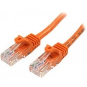 StarTech 45PAT5MOR 5m Cat5e U/UTP (UTP) Orange networking cable