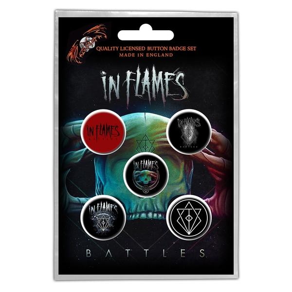 In Flames - Battles Button Badge Pack