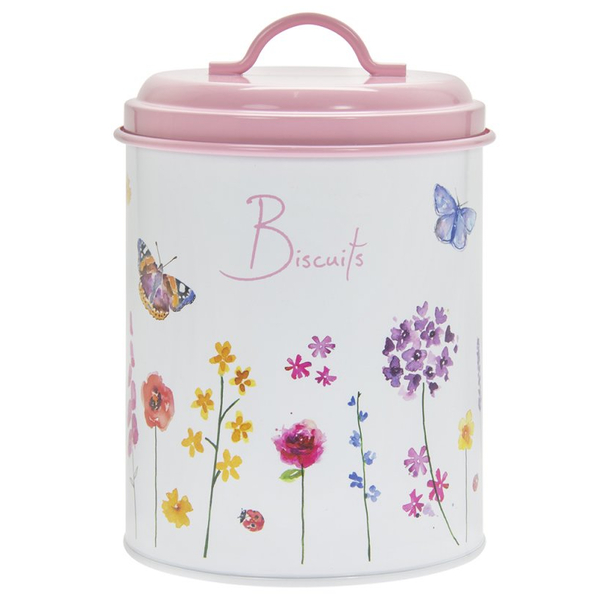 Butterfly Garden Biscuits Canister by Lesser & Pavey