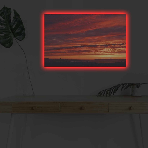 4570DHDACT-021 Multicolor Decorative Led Lighted Canvas Painting